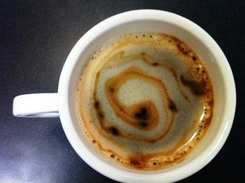 Work coffee twirl