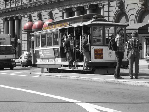 Cable car at lunch