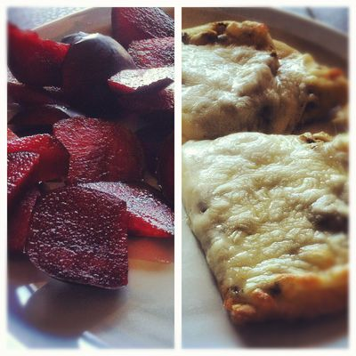 Pesto Naan and Plums